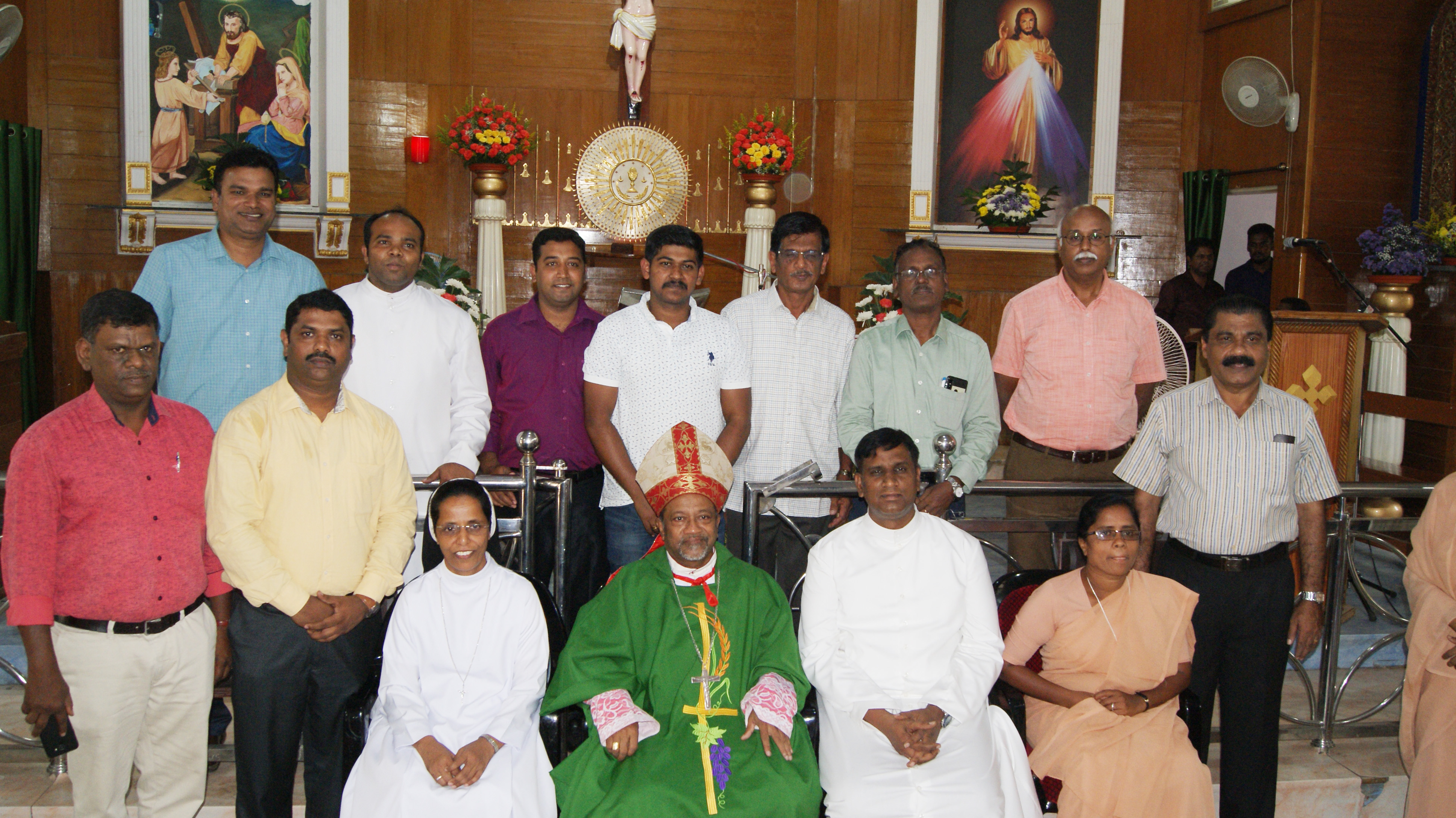 Council Members With New Bishop